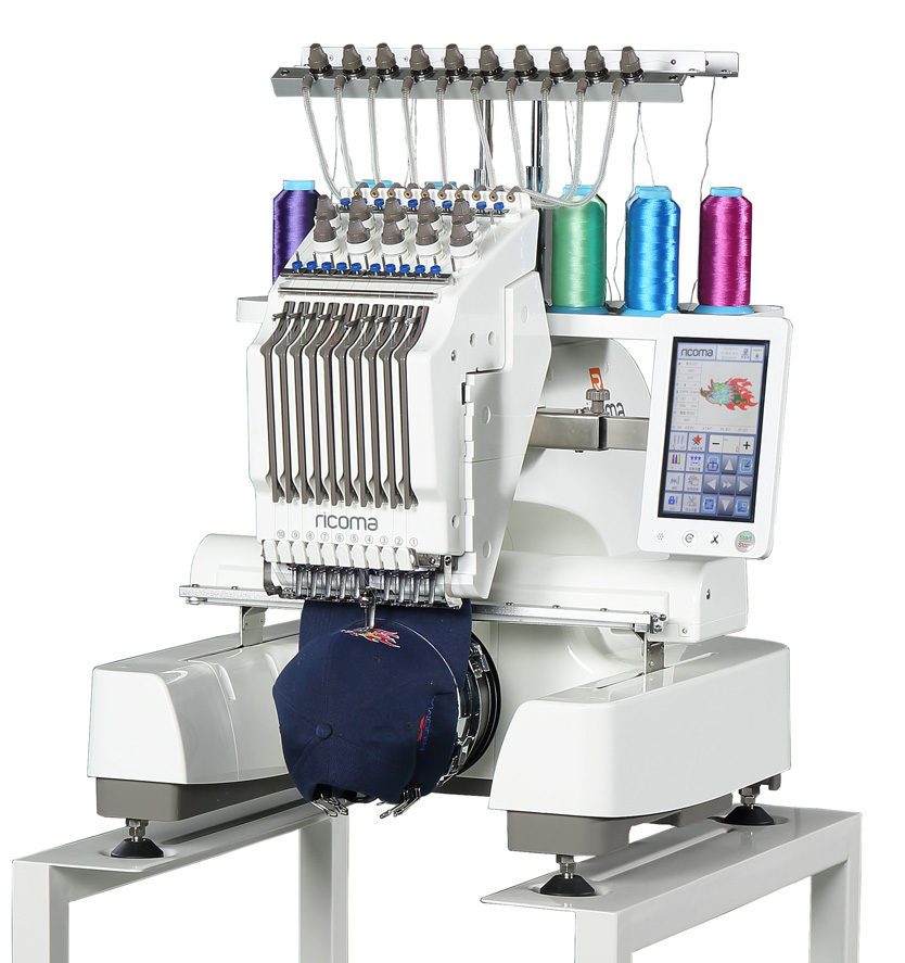 Ricoma EM Series - 7 Inch Touch Screen Embroidery Machines for Hobbyists and Beginners