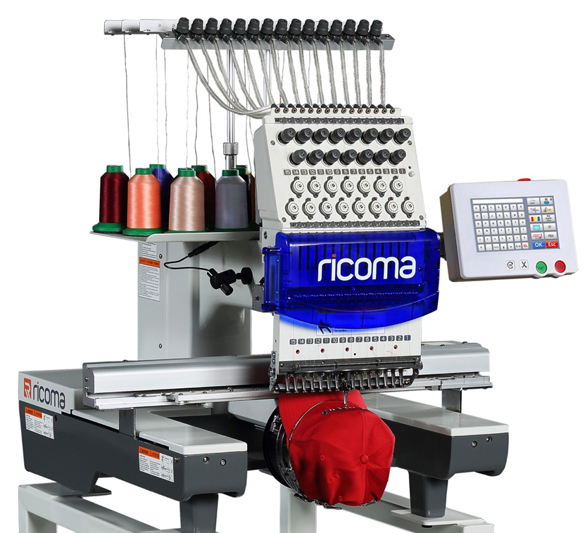 Ricoma TC Series - 7 / 8 Inch Touch Screen Single Head Embroidery Machines